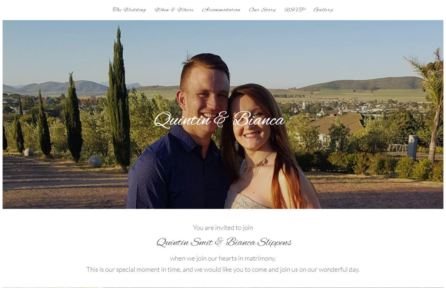 Online Wedding Invitation Websites: Wedding Websites South Africa